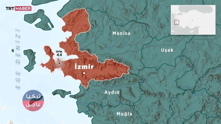 تركيا اليوم الخميس … زلزال يضرب ولاية إزمير غربي البلاد