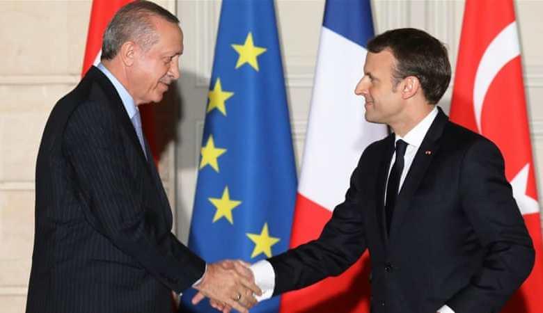 Erdogan, Macron, French journalist, Syria, weapons
