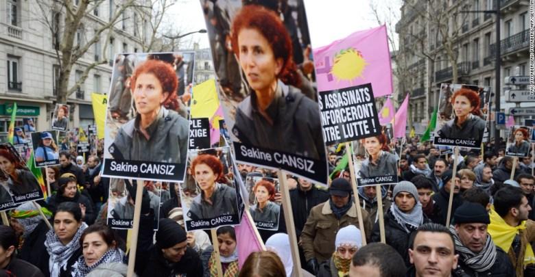 Paris, protest, Kurds, Erdogan, murders, Sakine Cansiz