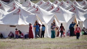 Syrian refugees in a camp in southern Turkey