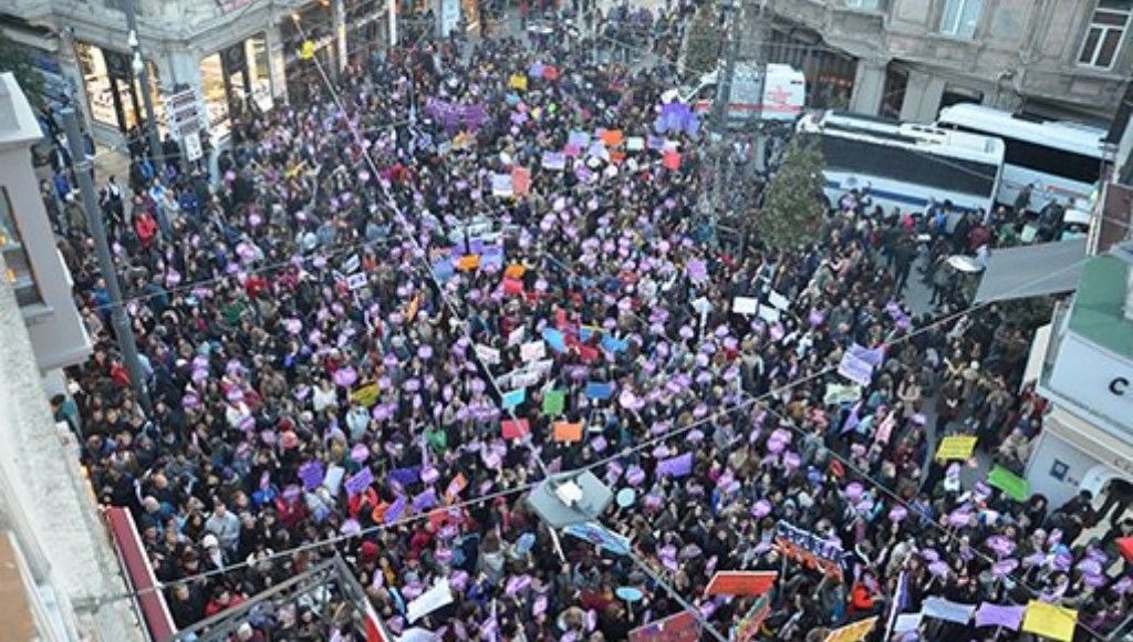 Women's march in Turkey.