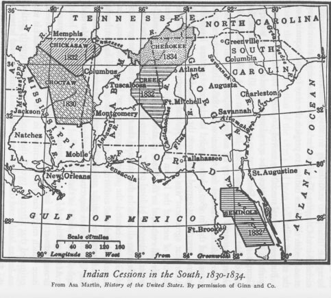 Indian Cessions 1830-1834