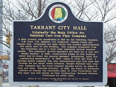 Tarrent City Hall marker