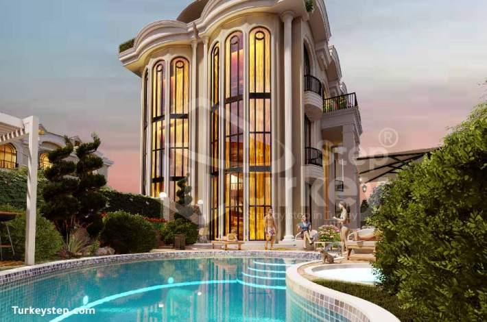 فلل للبيع في اسطنبول في مشروع Blue Sea Mimarsinan - N-154
