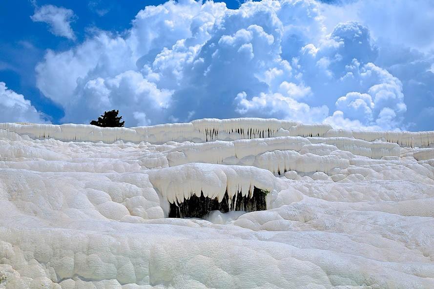 Limestone Terraces Geology Water Rock pamukkale