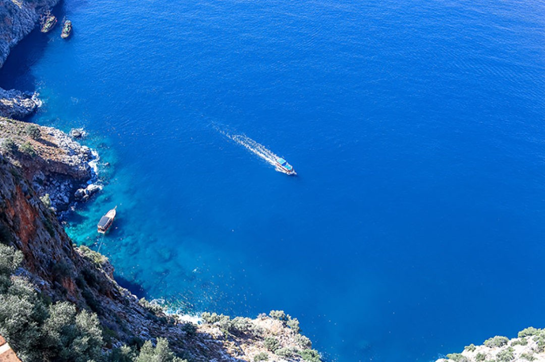 view of the Mediterranean sea from the ancient fortress of Alanya