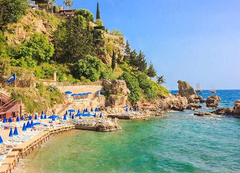 Mediterranean sea landscape in Antalya