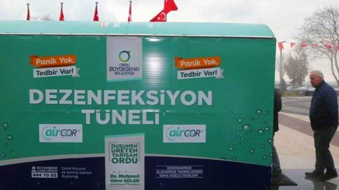 Aircor52 Desinfiointi tunneli