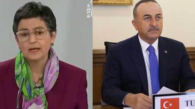 Gonzalez Laya ja Çavuşoğlu