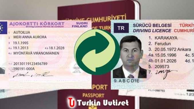 Suomalainen ja Turkkilainen ajokortti