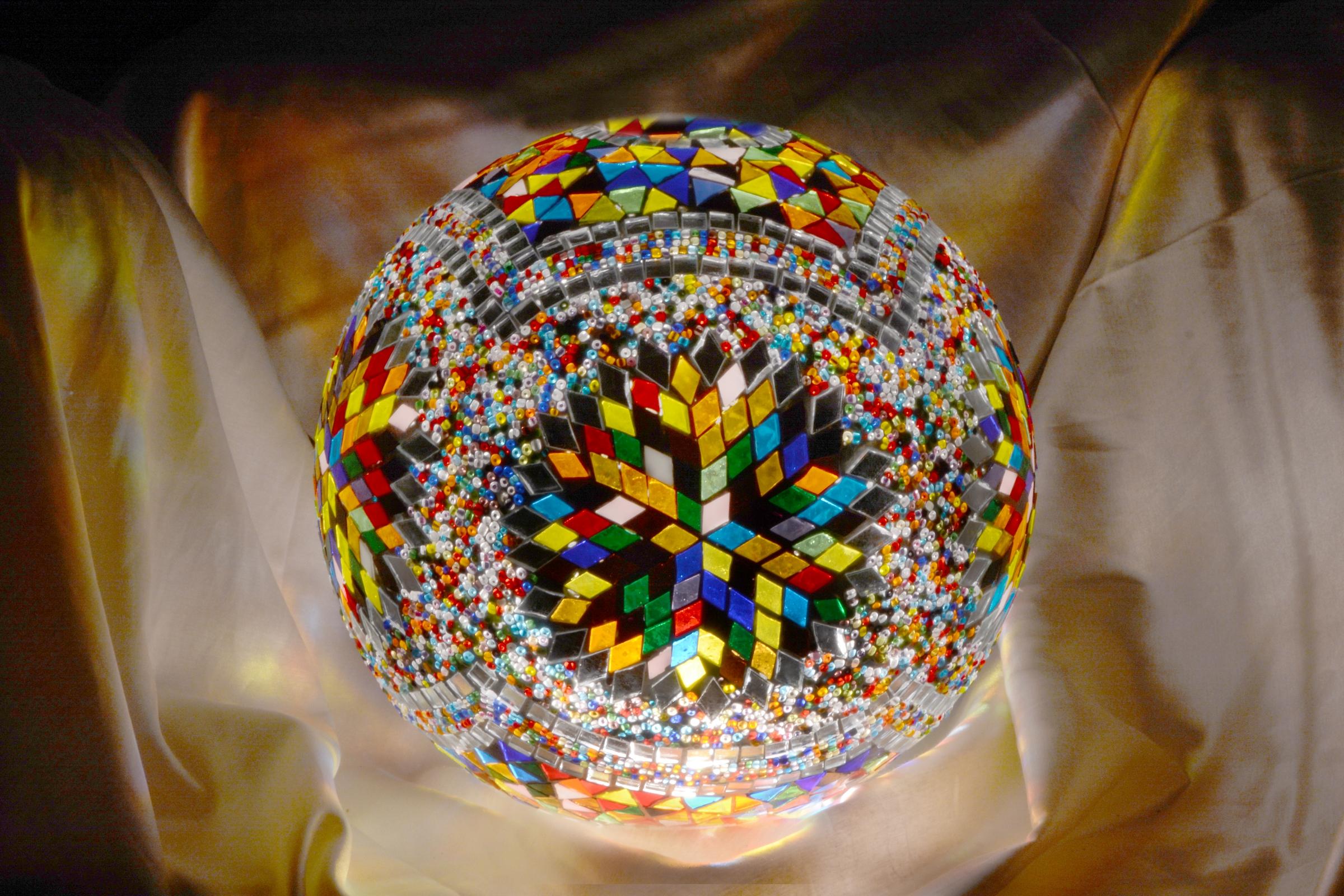 30cm Top Mosaic Lamp