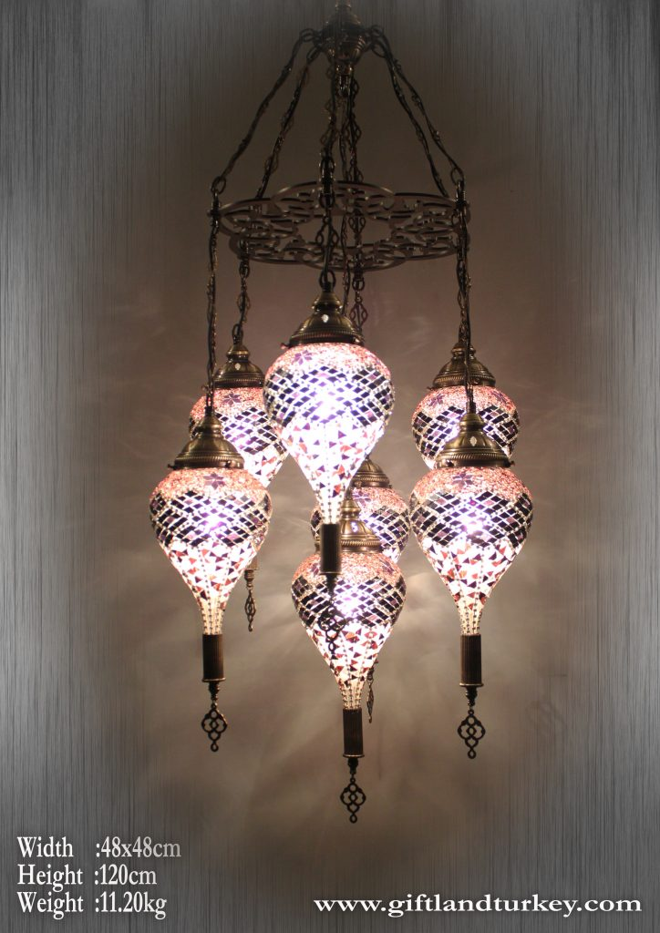 Drop Mosaic Lamps