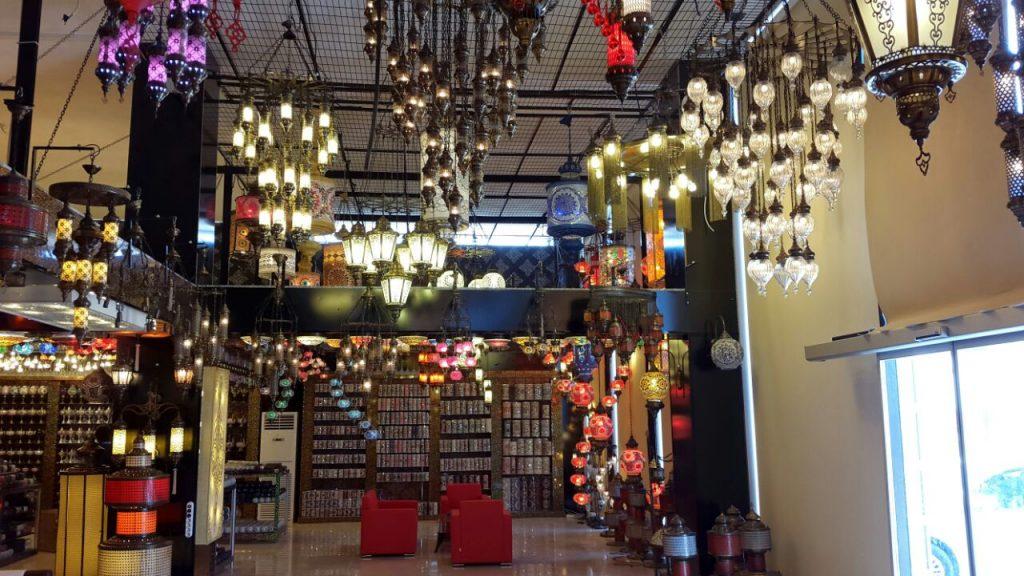 Mosaic lamp shop in Istanbul