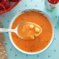 Chickpea Tomato Soup Recipe