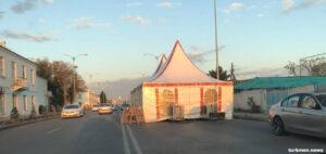 Балканабад: Белые палатки как признак роста смертности населения