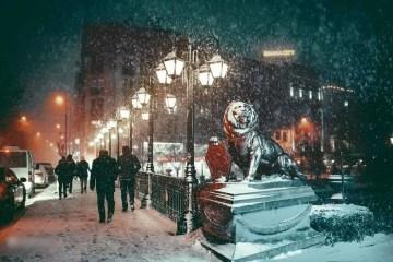 اسكي شهير في الشتاء