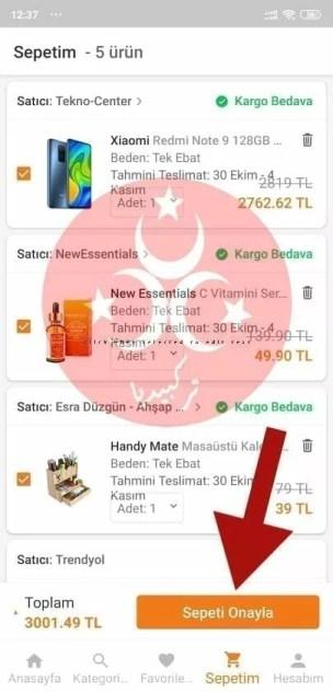 طريقة الشراء من موقع ترينديول بالعربي