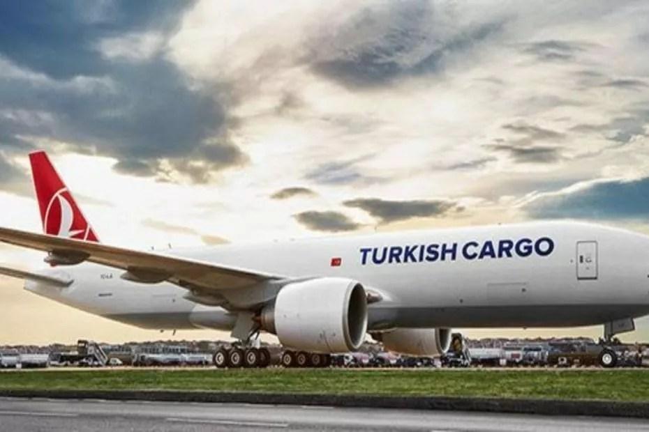Fracht der türkischen Fluggesellschaft