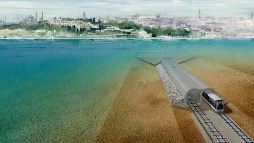 مترو مرمراي اسطنبول تحت البحر