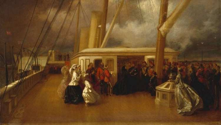 Königin Victoria und Sultan Abdul Aziz Al-Othmani