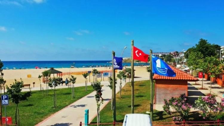 Blue Flag Beach in Turkey