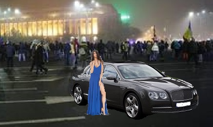 ADEVĂRUL –  Elodia a fost la mitingul din Piața Victoriei