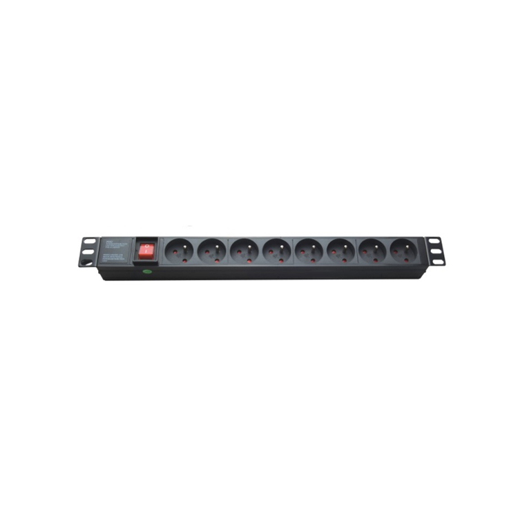 19 french type 16a 1u 8 way outlet pdu