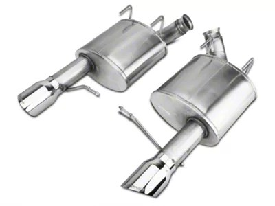 corsa sport axle back exhaust with polished tips 11 14 gt 12 13 boss 302