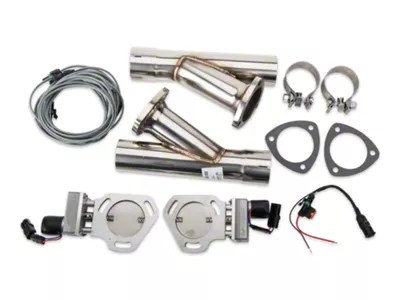 pypes electric exhaust cutout kit 2 50 inch universal fitment