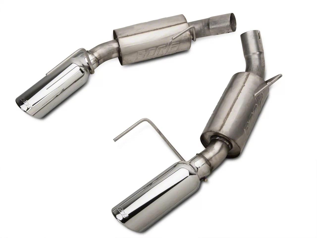 borla atak axle back exhaust with polished tips 05 09 gt