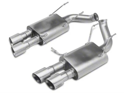 lth axle back exhaust with titan silver tips 13 14 gt500
