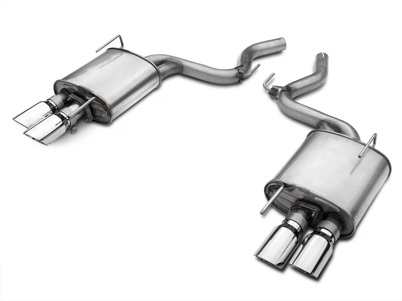 roush quad tip passive axle back exhaust 15 17 gt premium