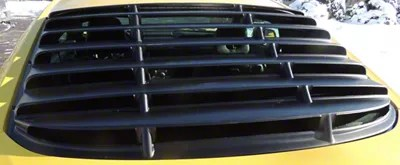 Cervini's quarter window louvers ship in matte black textured finish and are ready to install right out of the box. Mustang Abs Rear Window Louver Unpainted 15 21 Fastback