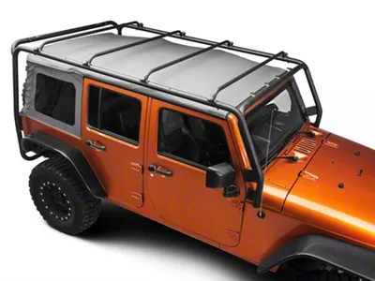 barricade roof rack textured black 07 18 jeep wrangler jk 4 door