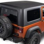 Jeep Wrangler One Piece Hard Top Black 07 18 Jeep Wrangler Jk 2 Door