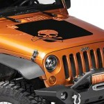 Rugged Ridge Jeep Wrangler Skull Hood Decal Matte Black 12300 13 07 18 Jeep Wrangler Jk