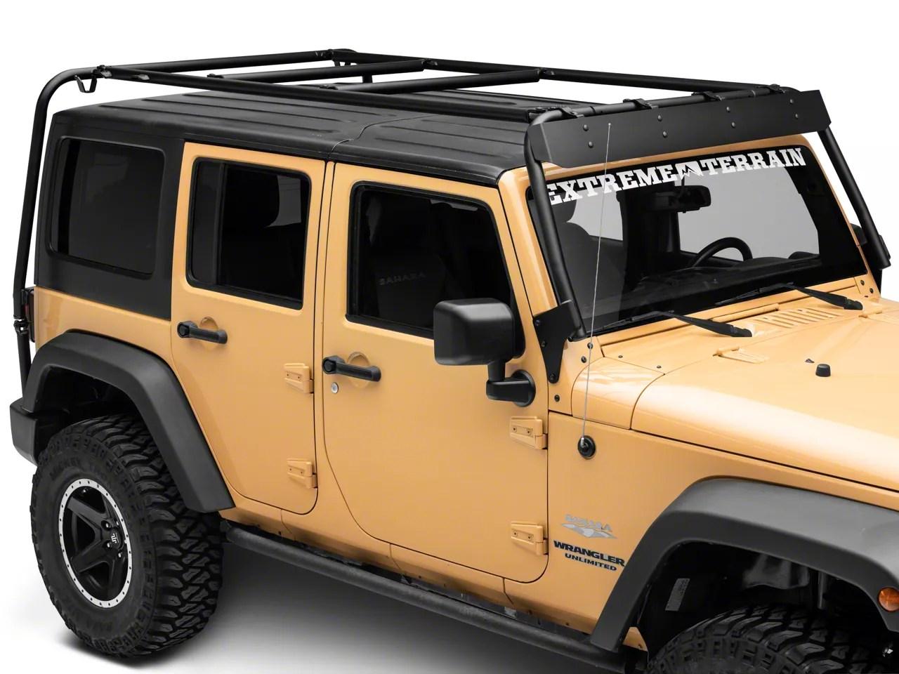 garvin wind deflector for adventure rack 07 18 jeep wrangler jk