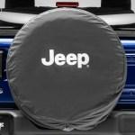 Mopar Jeep Wrangler Jeep Logo Spare Tire Cover Black And White J129630 87 21 Jeep Wrangler Yj Tj Jk Jl