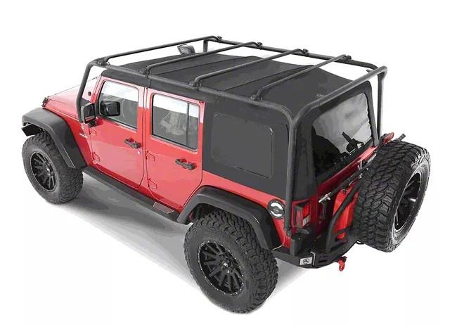 smittybilt replacement legs for src roof rack 07 18 jeep wrangler jk 4 door