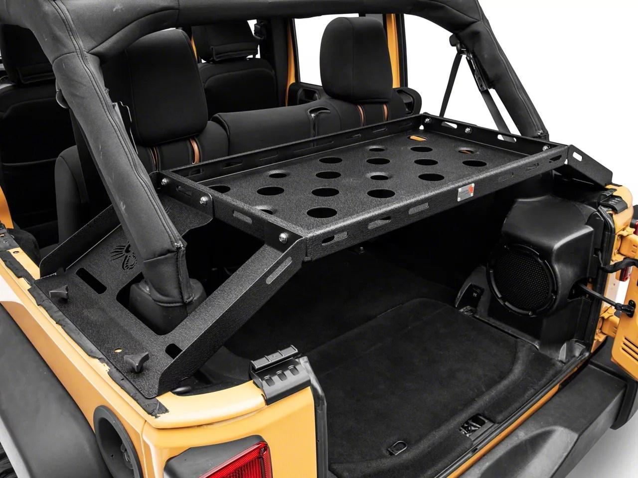 fishbone offroad interior storage rack 07 18 jeep wrangler jk 4 door