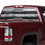 Sec10 Sierra 1500 Perforated Distressed Flag Rear Window Decal S502953 07 21 Sierra 1500