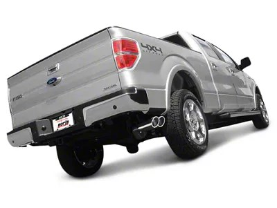 borla touring dual exhaust system with polished tips same side exit 11 14 5 0l f 150