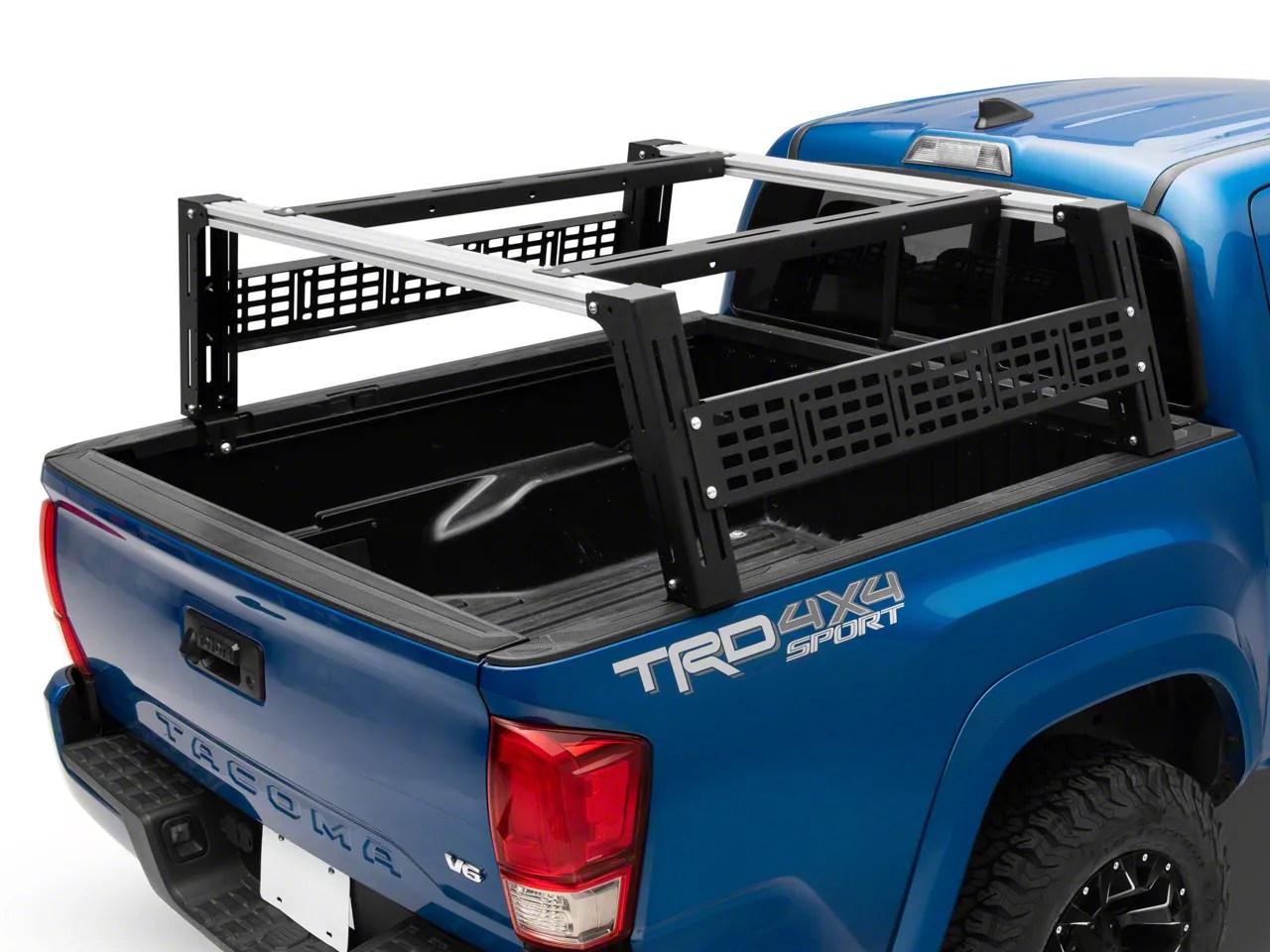 cali raised led overland bed rack system tall profile 05 21 tacoma