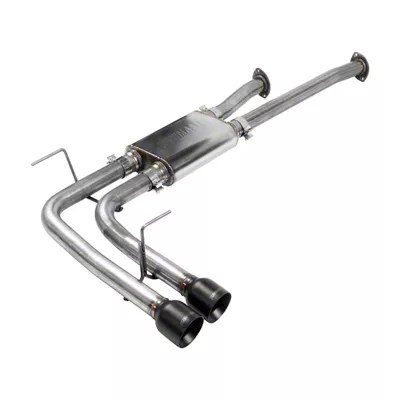 flowmaster flowfx dual exhaust system with black tips middle side exit 09 21 5 7l tundra