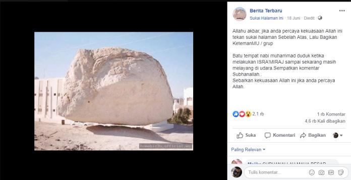 [SALAH] Batu tempat Nabi Muhammad duduk ketika melakukan Isra Mi'raj sampai sekarang masih melayang di udara - Screenshot 2221 - [SALAH] Batu tempat Nabi Muhammad duduk ketika melakukan Isra Mi'raj sampai sekarang masih melayang di udara