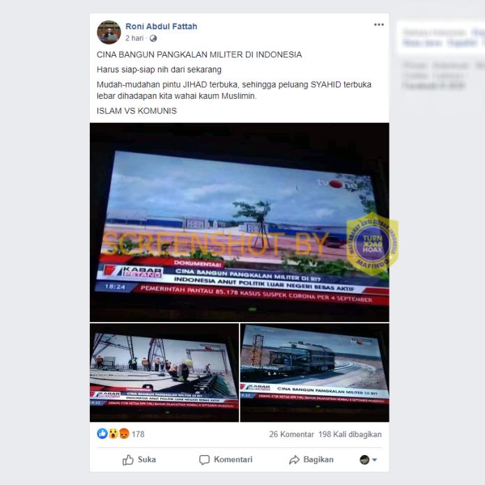 """[SALAH] """"CINA BANGUN PANGKALAN MILITER DI INDONESIA"""""""