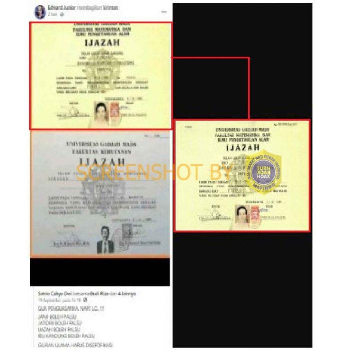 [SALAH] Ijazah Jokowi Palsu - TurnBackHoax