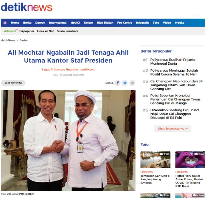 [SALAH] Ngabalin Sebut Jokowi Keturunan Nabi Sulaiman