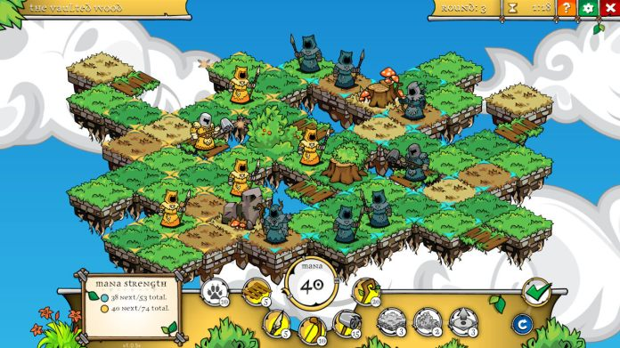 A druid's duel tactical online game
