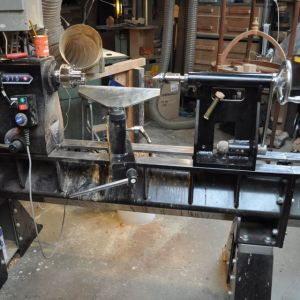 Lathe for making wooden bowls
